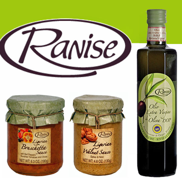 Ranise EVOO and Sauses from Liguria Italy