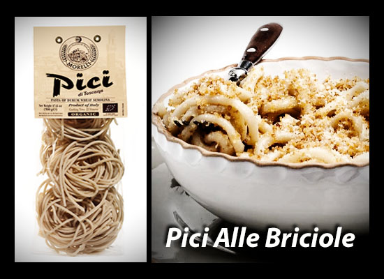 We love Morelli Pici... here are several simple recipes.