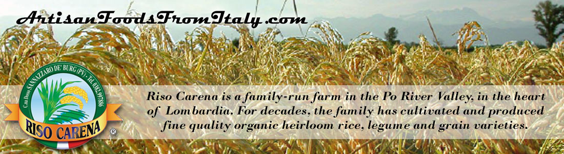 RISO CARENA Certified Organic Rice and Legumes