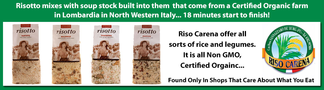 RISO CARENA Certified Organic Instant Risotto Mixes